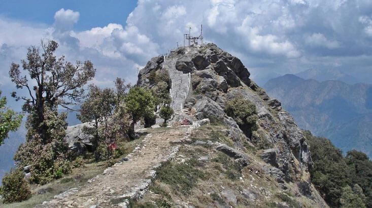 Route to Kartikeye Temple