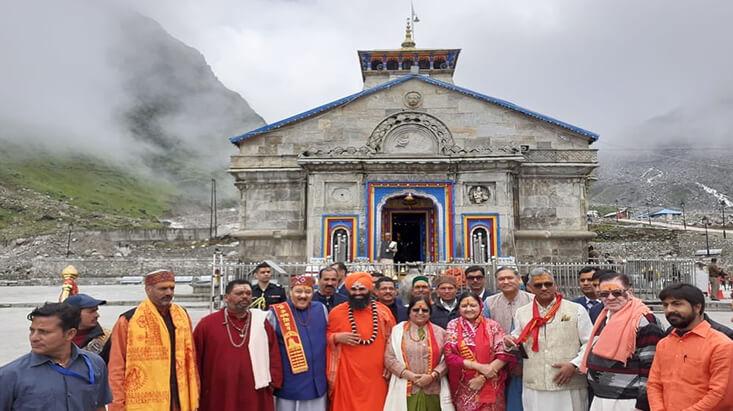 Chief Minister visit Kedarnath Dham